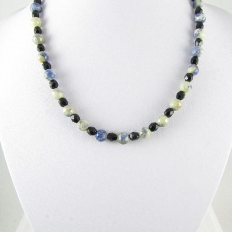 Necklace with faceted Sodalite beads
