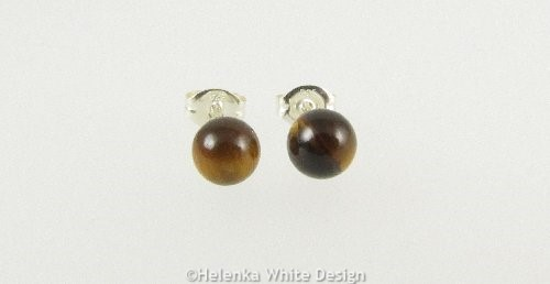 Tiger's Eye Sterling silver studs