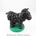 Black sheep sculpture - side