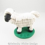 Valais Blacknose sheep -side
