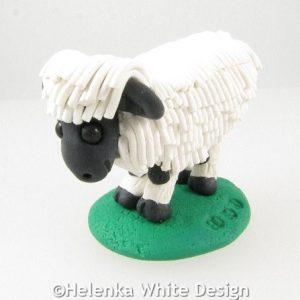 Valais Blacknose sheep - side
