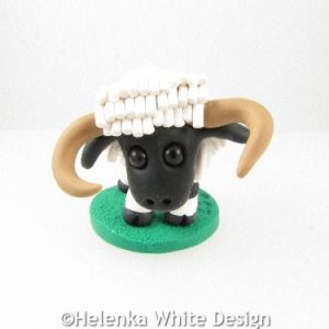 Valais Blacknose sheep with horns sculpture Maggie
