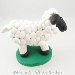 White sheep sculpture Woolimina - side