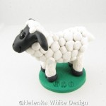 White sheep sculpture -side