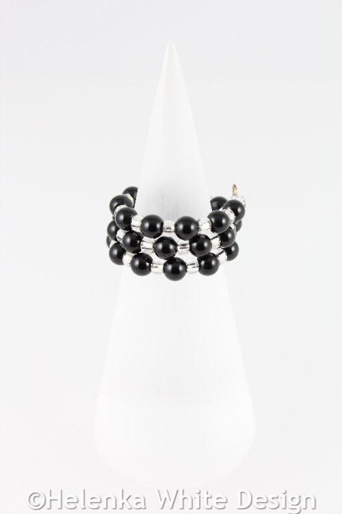 Black Agate Ring