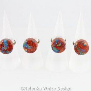 Faux Boulder Opal rings