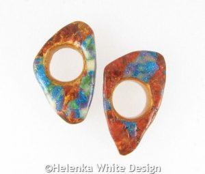 Faux Boulder Opal rings front.