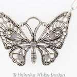 Butterfly necklace - detail