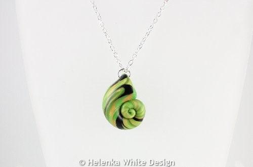 Light green & black nautilus3 - detail