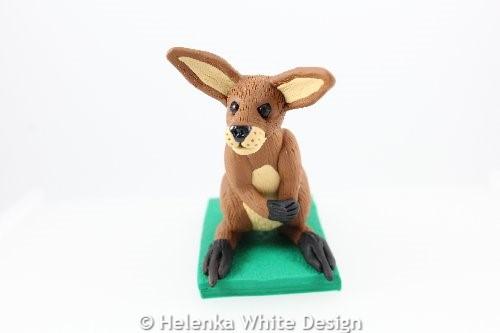 Kangaroo sculpture -front