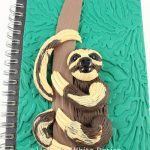 Sloth journal cover - detail