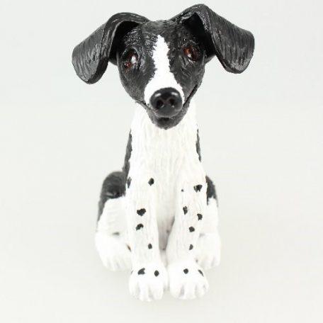 Black & white dog sculpture