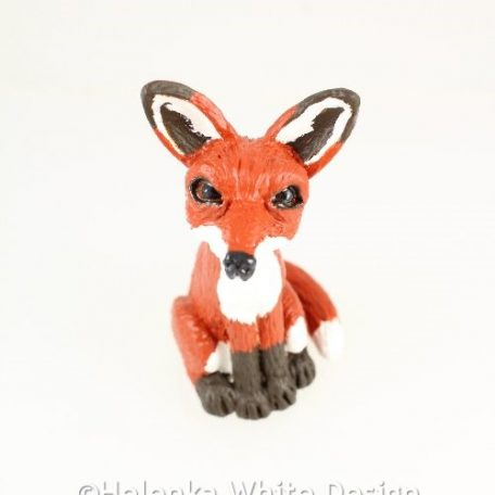 Fox sculpture - from above