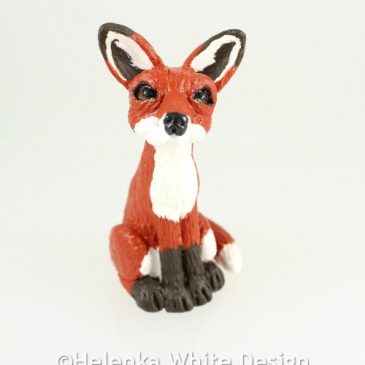 Fox sculpture -front