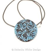 Blue dragonfly pendant