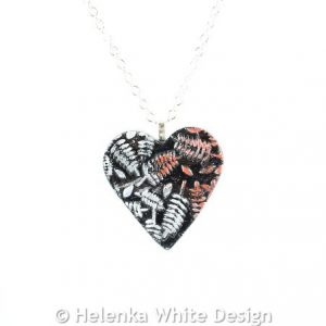 Red silver fern heart