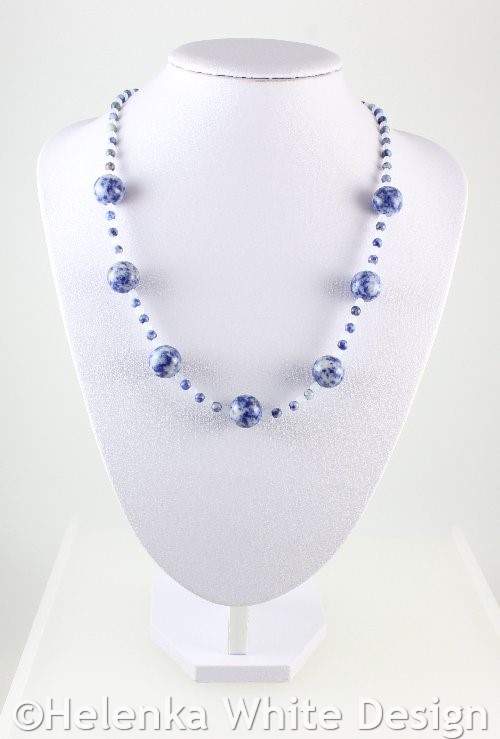 weave free beads necklace sodalite chip nylon item in shipping line