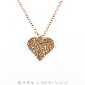 Celtic heart copper pendant