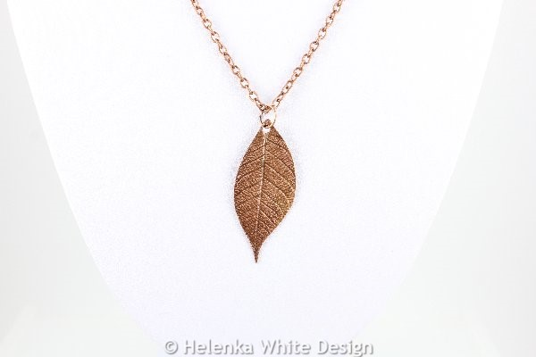 Copper leaf pendant