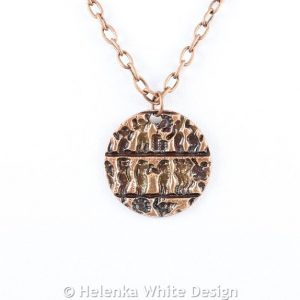 People copper pendant