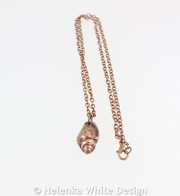Shell copper pendant