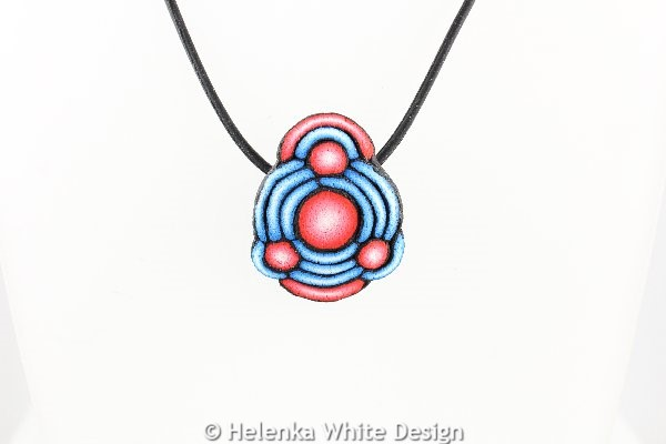 Blue and red pendant