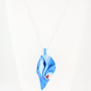 Folded blue & red pendant
