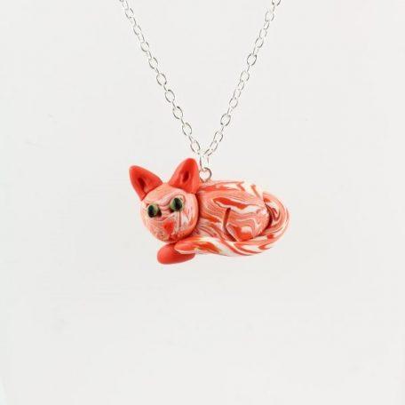 Ginger cat pendant