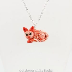 Ginger cat pendant