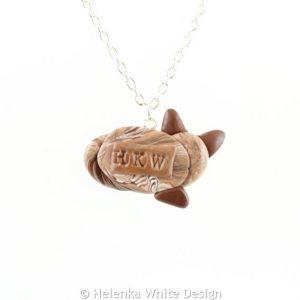 Brown tabby cat pendant