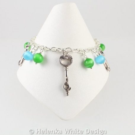 Bracelet with cat charms