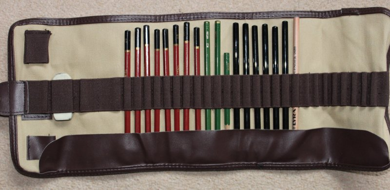 My new pencil roll.