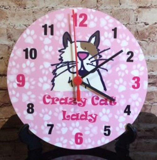 Crazy Cat Clock