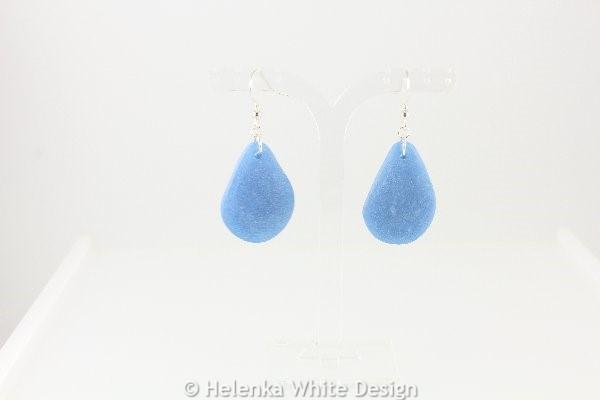 Faux beach glass earrings in blue