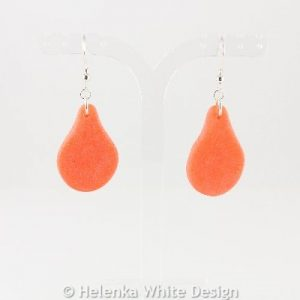 Faux beach glass earrings in orange