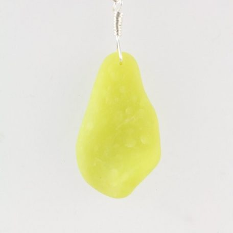 Curved faux beach glass pendant in yellow