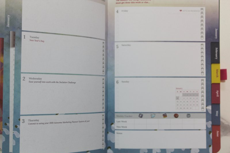 Weekly pages
