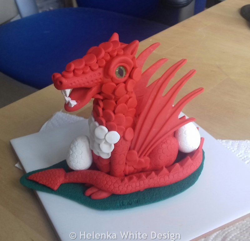 Red dragon after baking