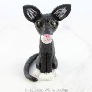 Black cat sculpture