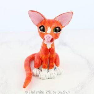 Ginger cat sculpture