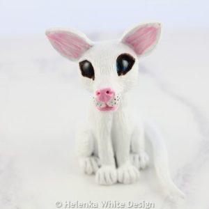 White cat sculpture