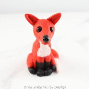 Small fox sculpture