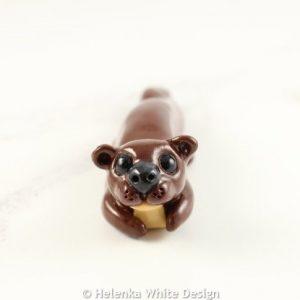 Small otter sculpture