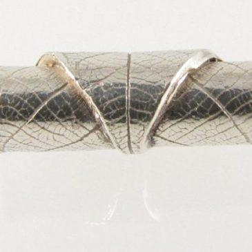 Silver clay leaf pendant.